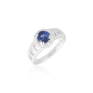 Sapphire and Diamond Ring 5