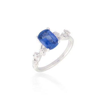 Floral Sapphire and Diamond Ring