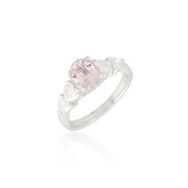 Light Pink Sapphire and Diamond Ring