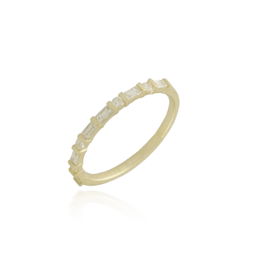 Yellow Gold Baguette Band
