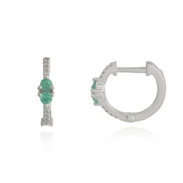 White Gold Emerald Earring