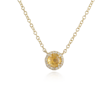 Citrine Yellow Gold Pendant