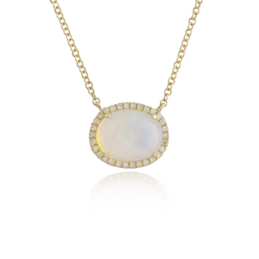 Large Opal Yellow Gold Pendant