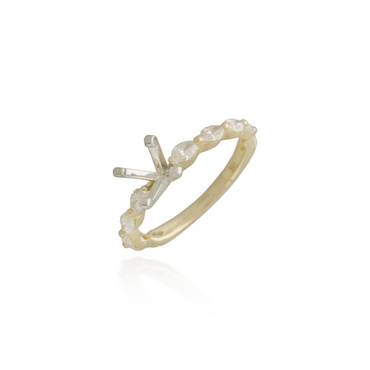 Marquette Yellow Gold Engagement Ring