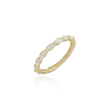 Marquette Yellow Gold Band