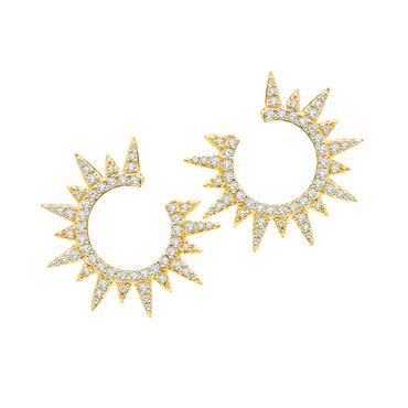 Graziela Star Yellow Gold Diamond Earring