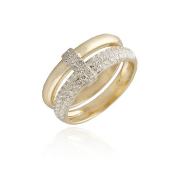 Double Wedding Band Diamond Ring