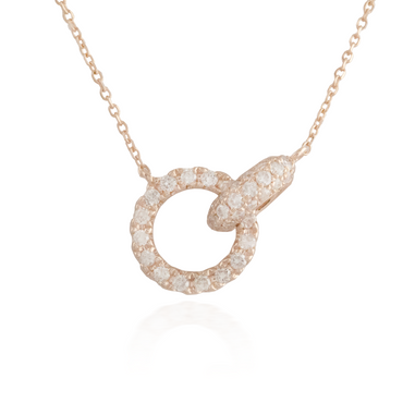 Interlocking Rose Gold Necklace