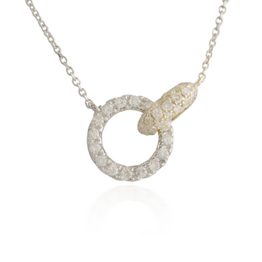 Interlocking Two-Tone Gold Necklace