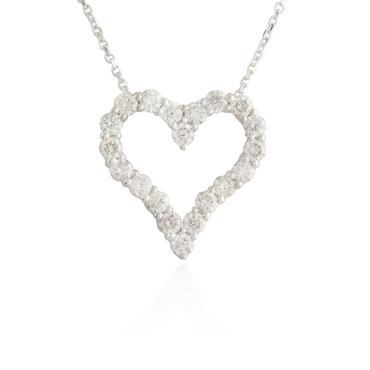 Small Heart White Gold Pendant
