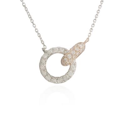 Interlocking Two-Tone Gold Necklace 2