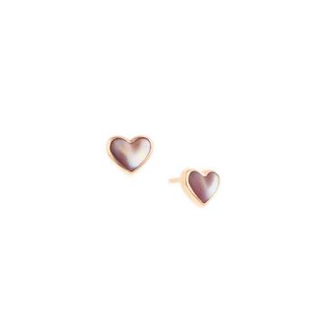 Kabana Pearl Mop Heart Earring