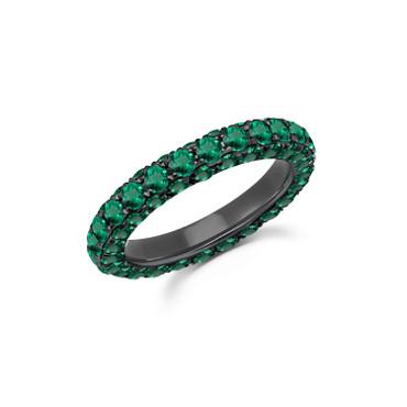 Graziela Emerald 3 Sided Band Ring