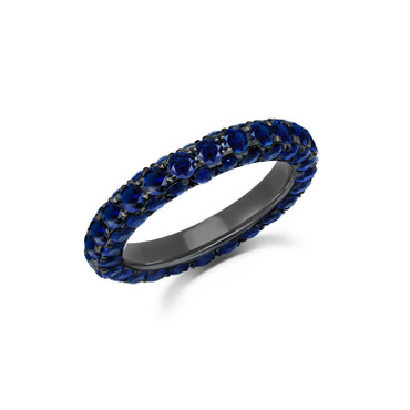 Graziela Sapphire 3 Sided Band Ring