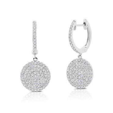 Graziela Diamond Disc Earrings