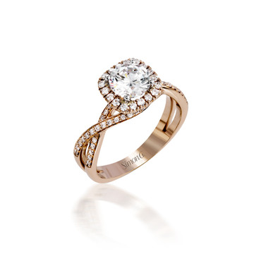 Simon G Monmouth Halo Engagement Ring Setting