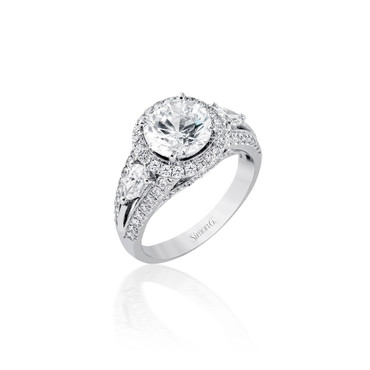 Simon G Adira Halo Engagement Ring Setting