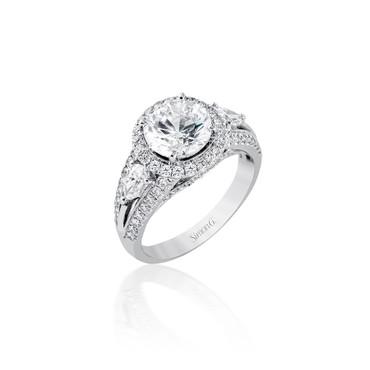 Simon G Adira Halo Engagement Ring Setting