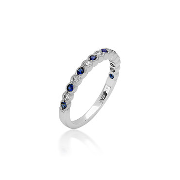 Bassali Sapphire & Diamond Stackable Band