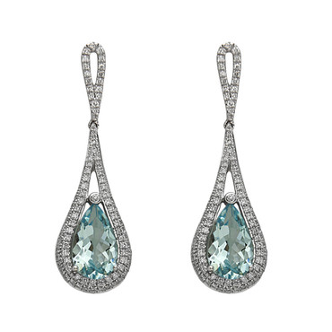 Bassali Aquamarine Raindrop Earrings