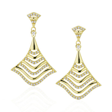 Madison L Young Cleo Diamond Drop Earrings