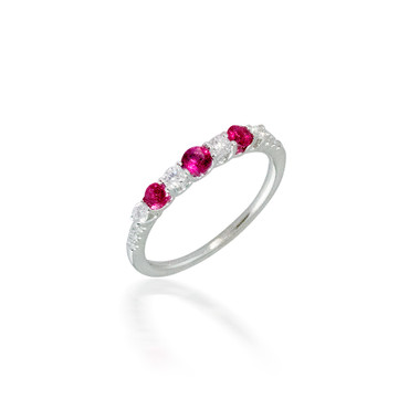 Madison L Precious Ruby and Diamond Ring