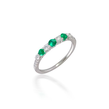 Madison L Precious Emerald and Diamond Ring