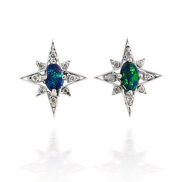 Opal Star Earrings