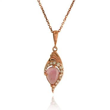 Pink Cabochon Tourmaline Pendant