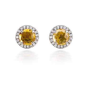 Bassali Citrine Diamond Earrings