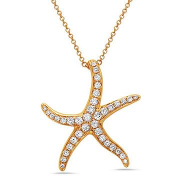 Bassali Starfish Diamond Pendant