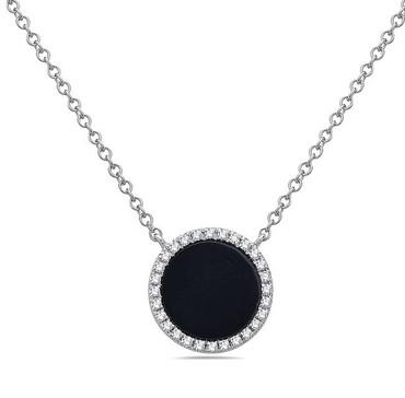 Bassali Diamond Onyx Pendant