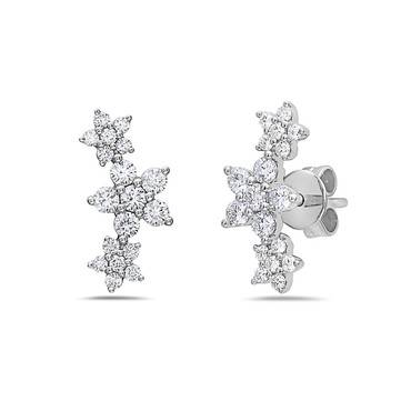 Bassali Diamond Flower Earrings