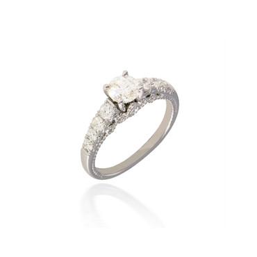 Royal Lotus Engagement Ring