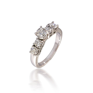 Five Stone Round Diamond Engagement Ring