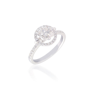 Diamond Orbiting Halo Engagement Ring