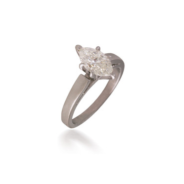 Cathedral Solitaire Diamond Marquise Engagement Ring