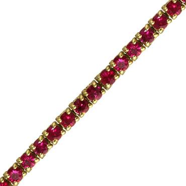 Classic Round Ruby Tennis Bracelet