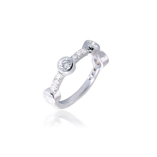 Diamond Bubble Stackable Rings