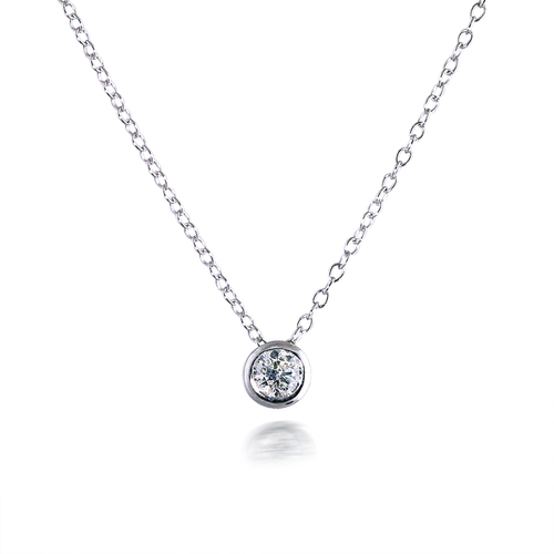 Classic 0.30ct Bezel-set Diamond Pendant