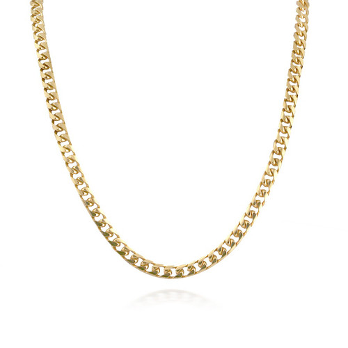 Classic 14K Yellow Gold Cuban-link Necklace
