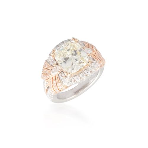 Two Tone Yellow Diamond Ring