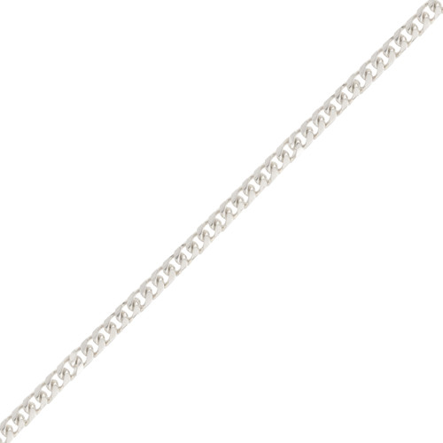 Classic 14K White Gold Cuban-link Bracelet
