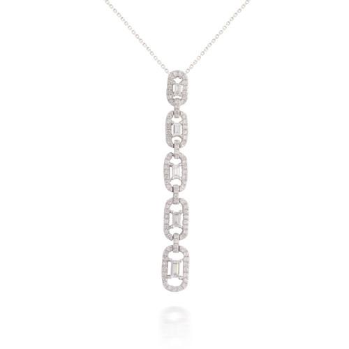 Five Dangling Baguette Diamond Pendant