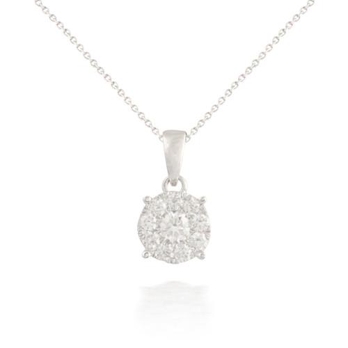 Large Circle Diamond Pendant