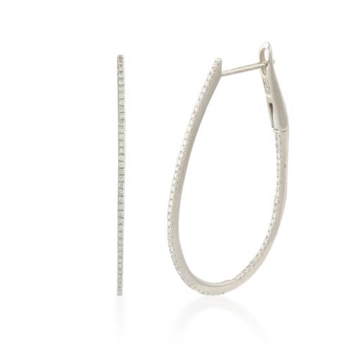 0.35ct Large Inside-out Diamond Hoop Earring