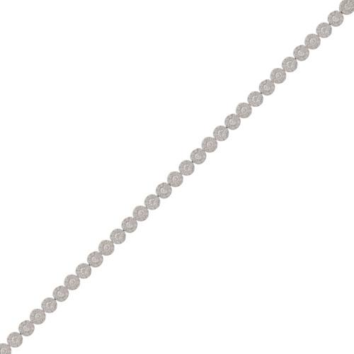 Round Cluster Tennis Bracelet
