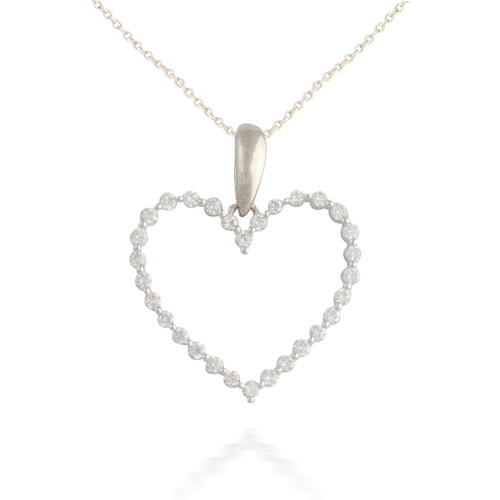 0.25ct Diamond Heart Pendant