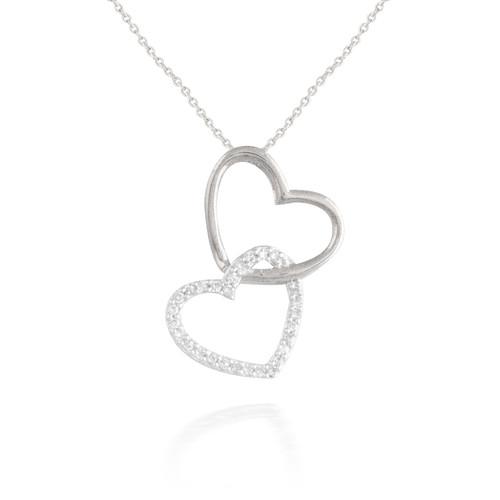 0.10ct Unity Diamond Heart Pendant
