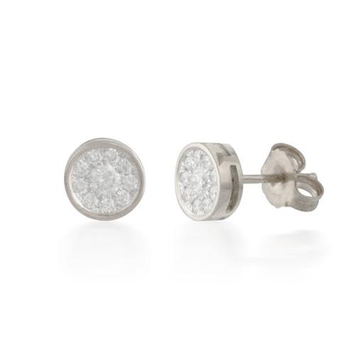 0.33ct Round Diamond Cluster Stud Earrings